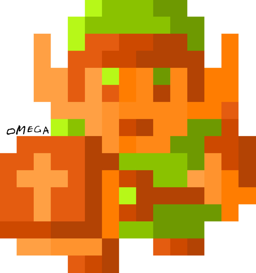 Link nes png. Re make bits by