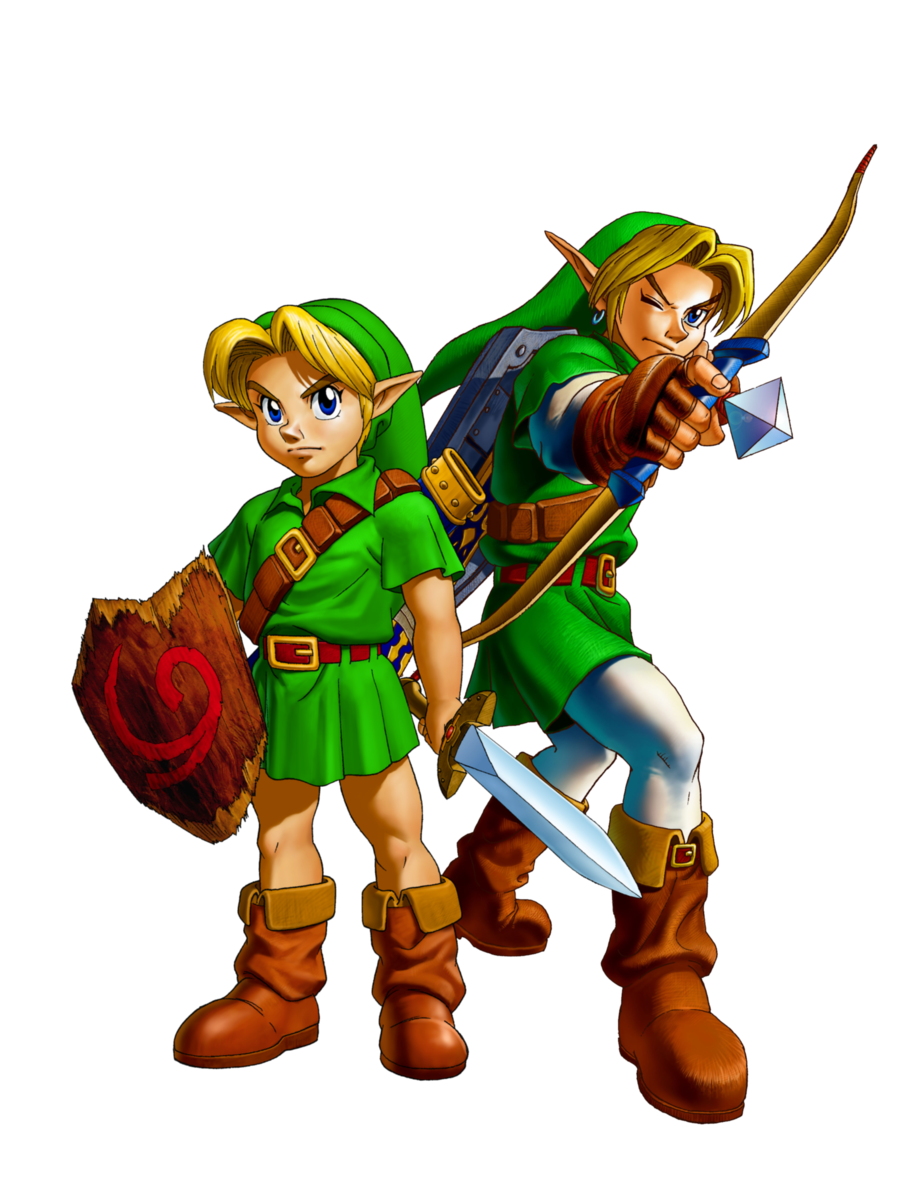 Link ocarina of time png. Retro review the legend