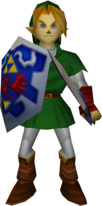 Link ocarina of time png. Low poly adult the