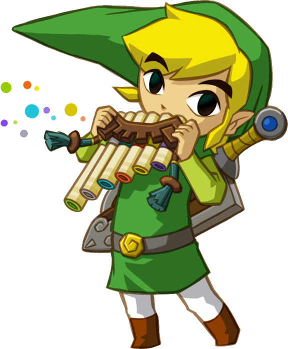 Transparent link zelda clipart. Image playing spirit flute