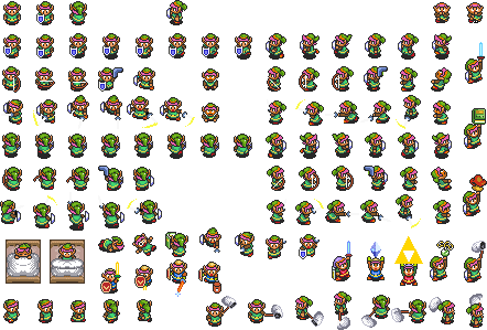 Zelda sprite png. The legend of a