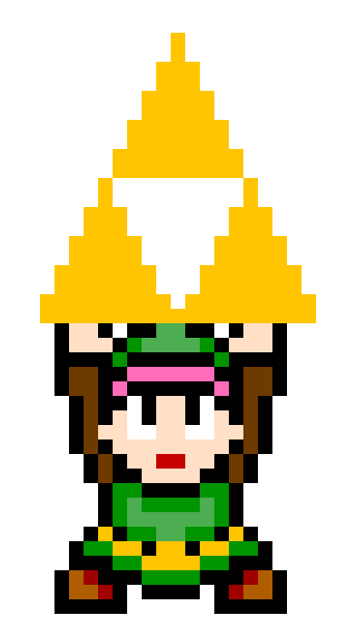 Link sprite png. Alttp holding triforce by