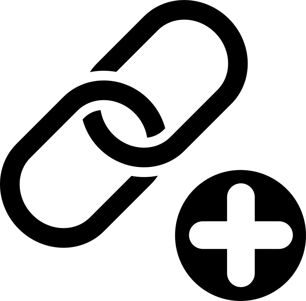 Link svg two. Building symbol of chain