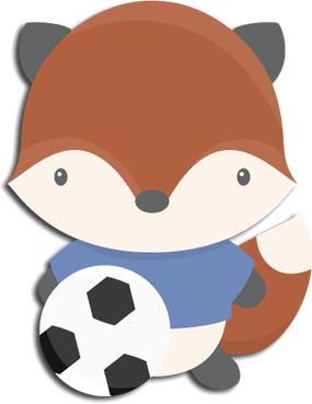 Link svg video. Cute soccer fox and