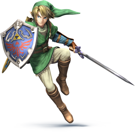 Transparent zelda background. Image link ssb ds