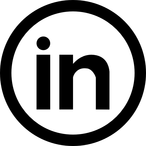 Linkedin icon png circle. Social circular button free