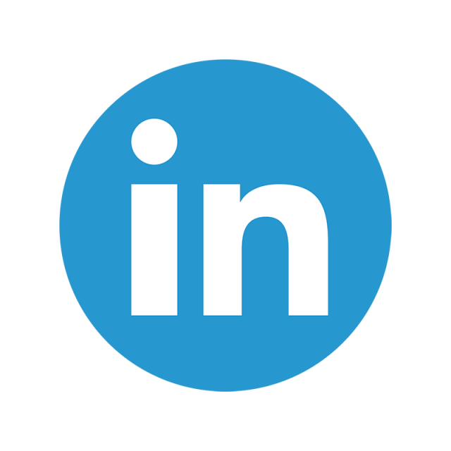 Linkedin png. Color icon linked in