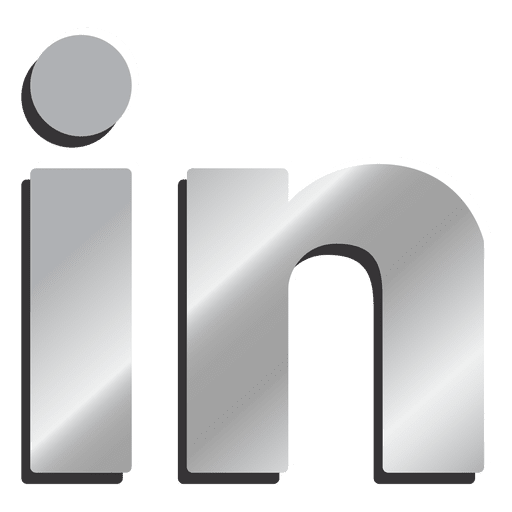 Linkedin png. Silver icon transparent svg