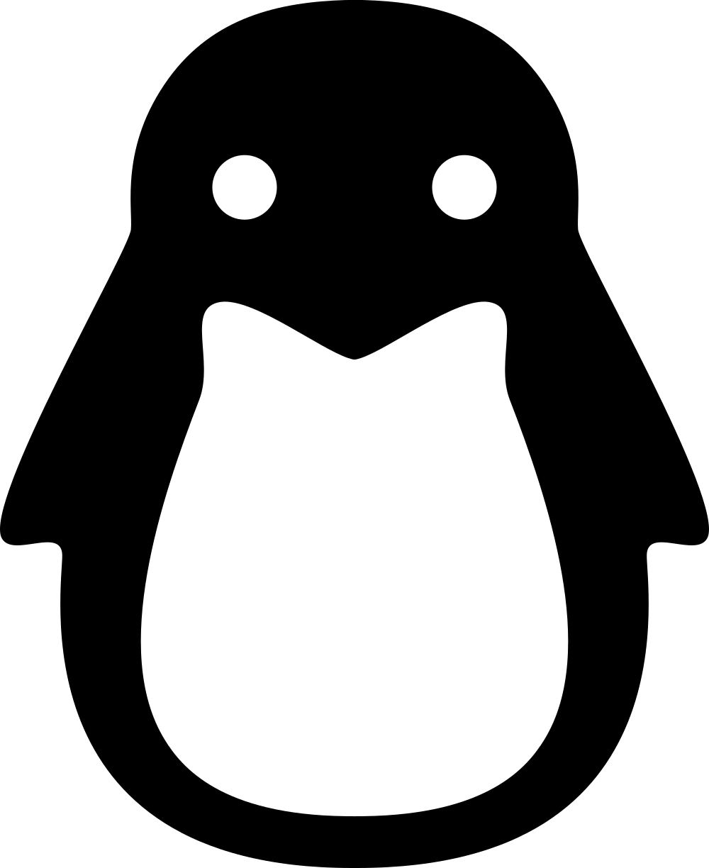 Linux penguin logo png. The other
