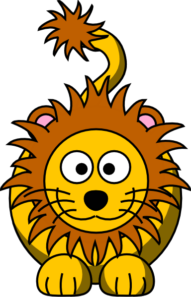 Lion clip animated. Cartoon golden art at