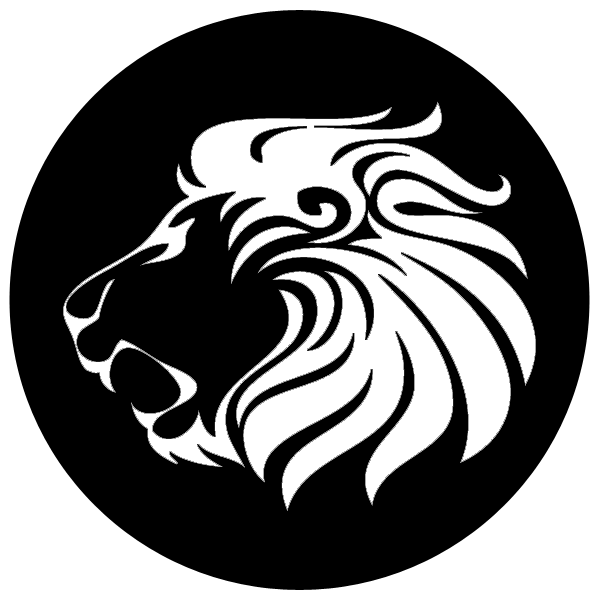 Lion clip profile. Art library career cliparts