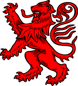 Lions vector red lion. Clip art at clker