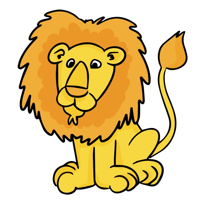 Lion clipart. Male