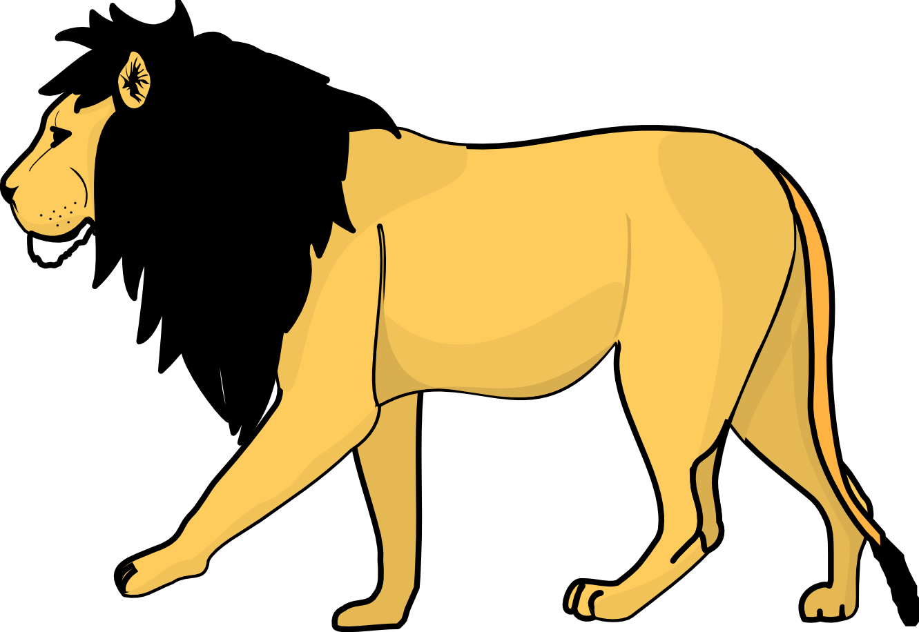 Drawing lions male lion. Free cliparts download clip