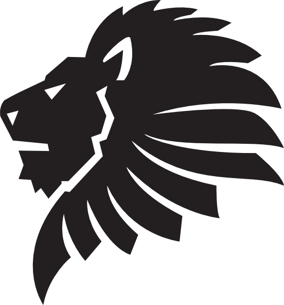 Head clip art at. Lion silhouette png image freeuse library