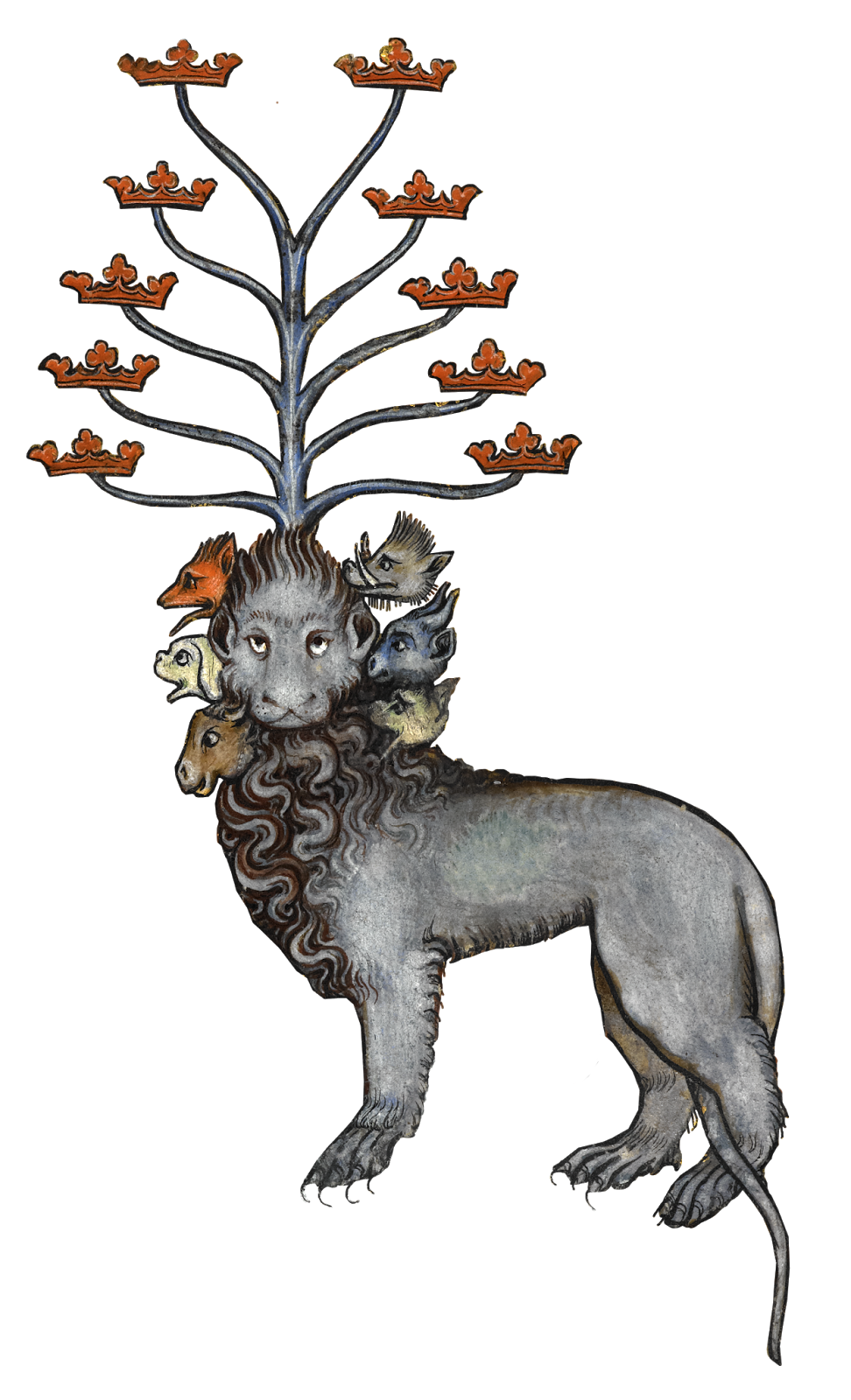 Lion head with unicorn horn png. An end days vision