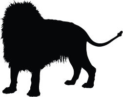 Lion silhouette png. King clip art library
