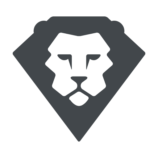 Lion logo png. Flat safari transparent svg