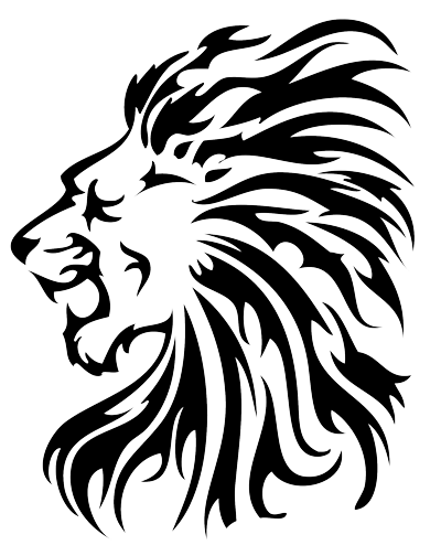 Lion outline png. Pin by michelle gandolfo