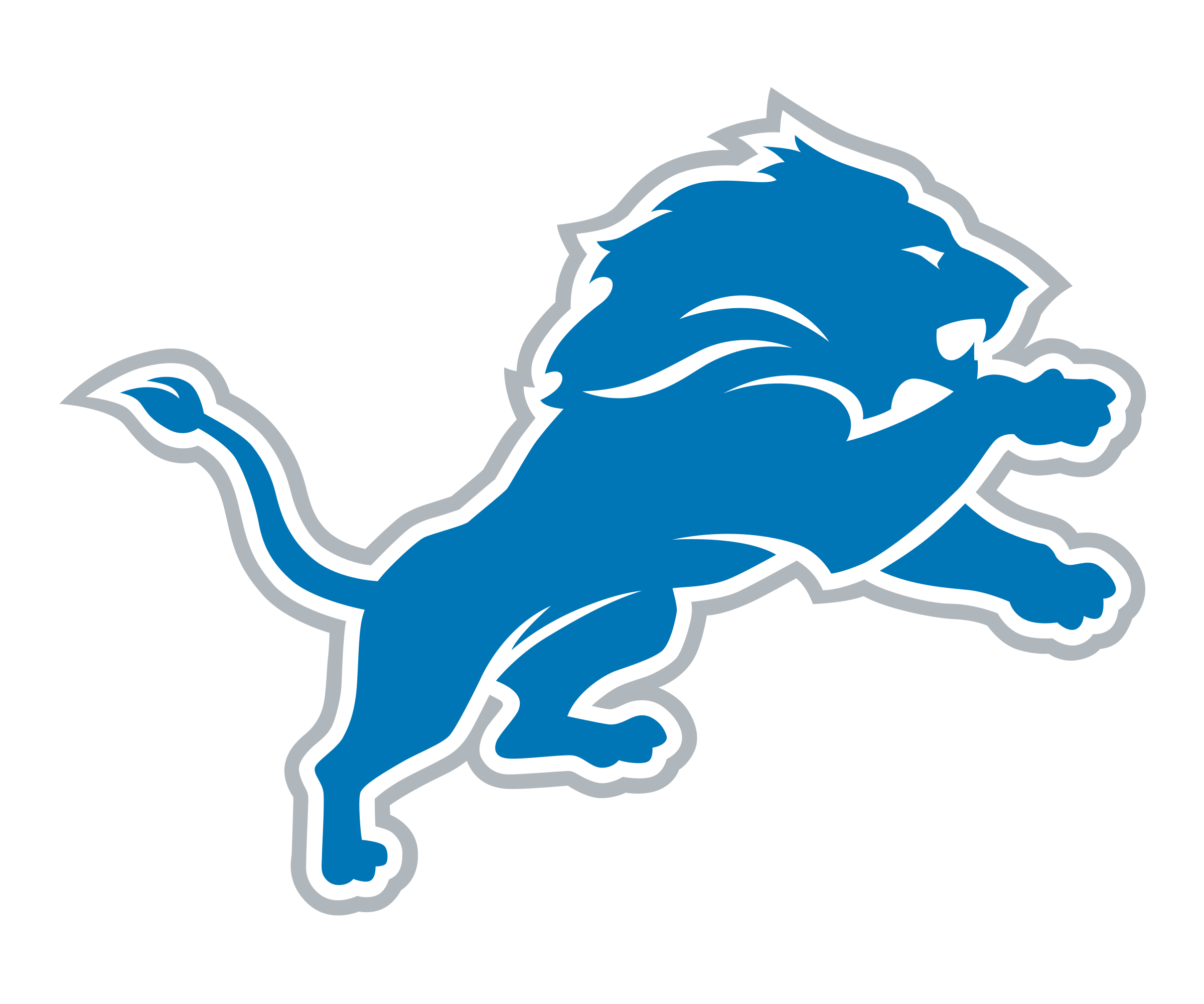drawing lions logo detroit lion