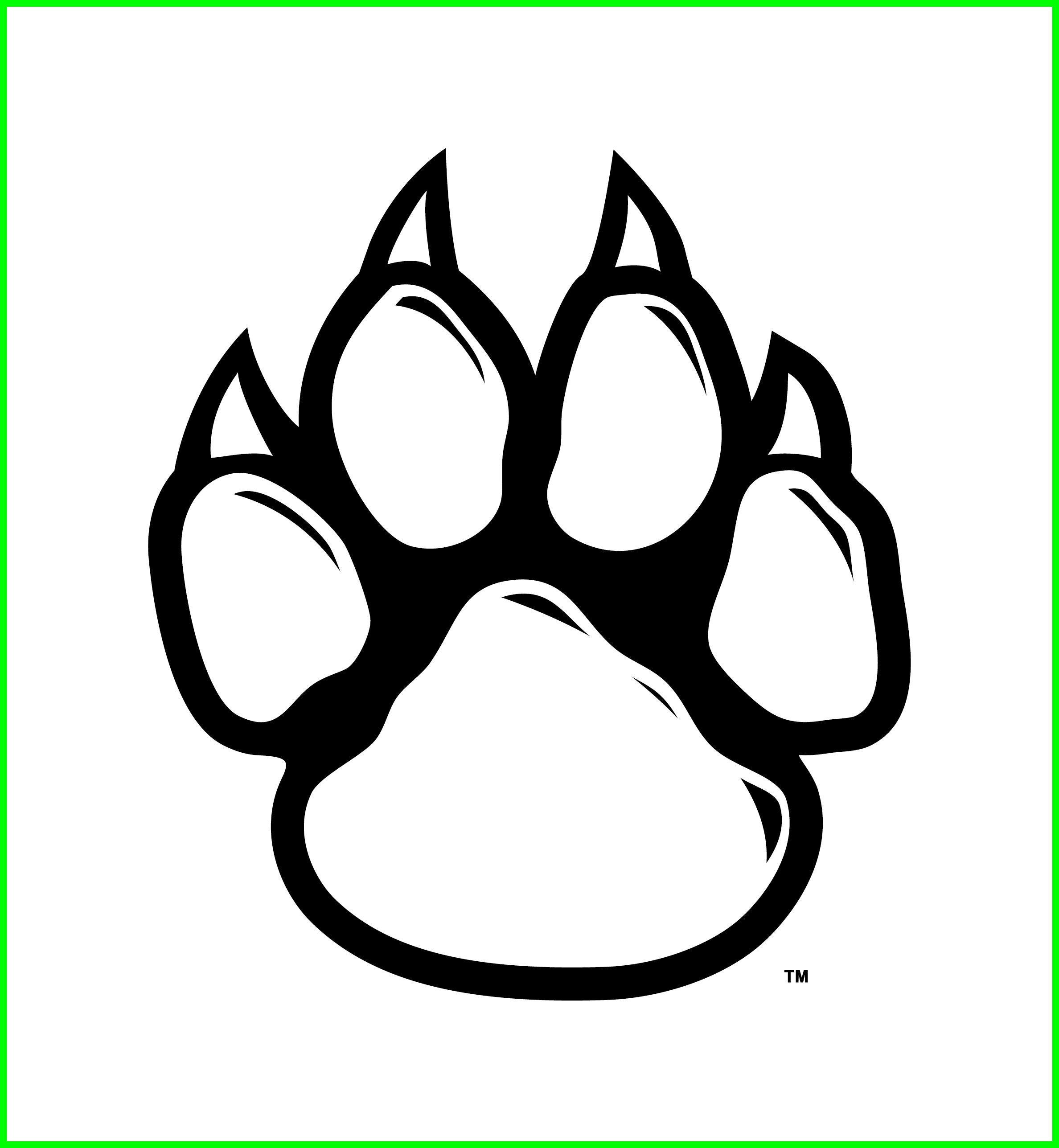Lion paw png. Best wolf silhouette and