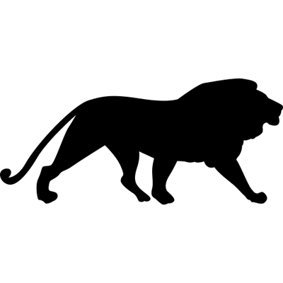 Transparent stickpng . Lion silhouette png clip royalty free stock