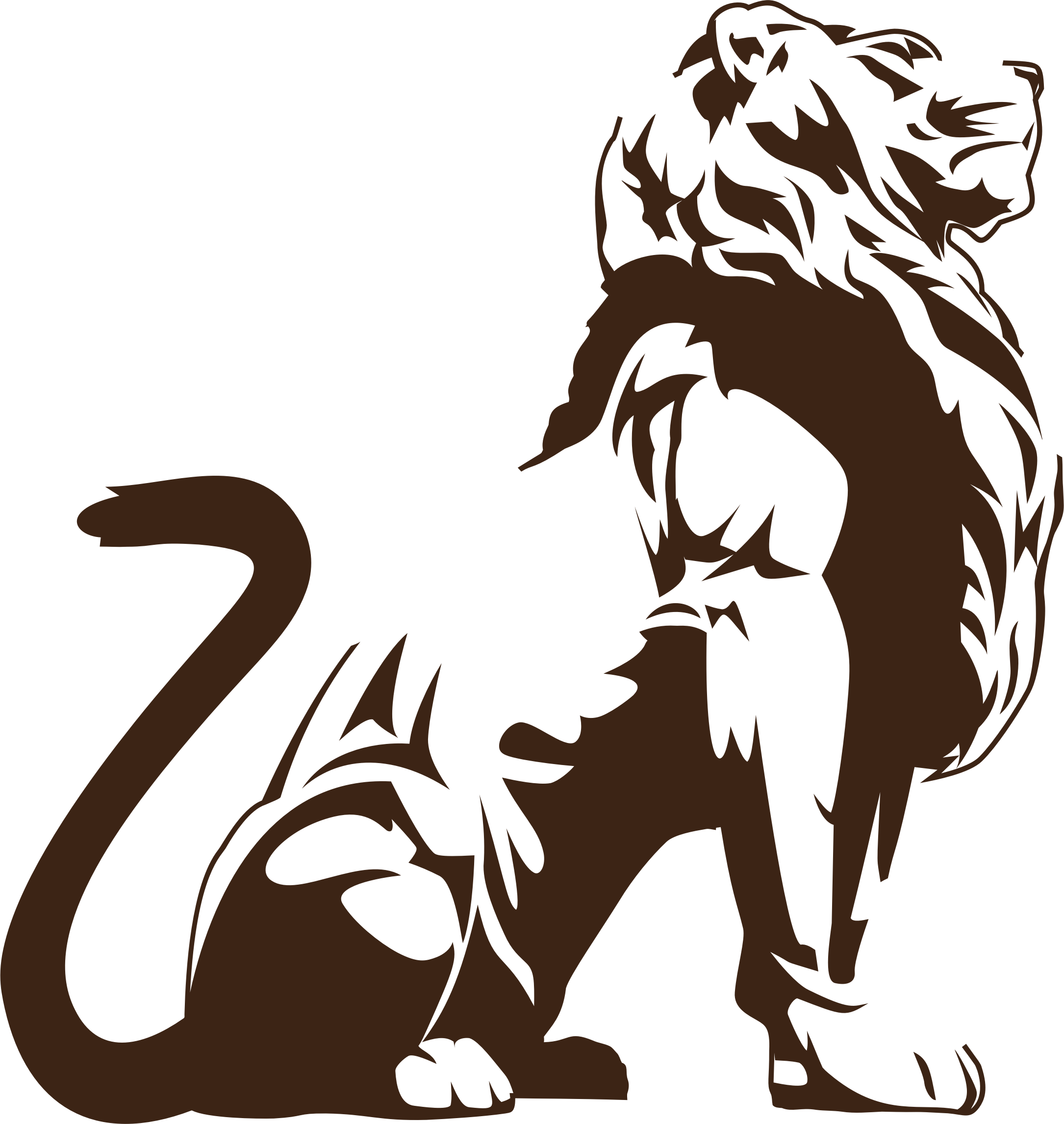 Clipart stylistic big image. Lion silhouette png jpg royalty free