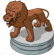 Lion statue outline png. Zoo the simpsons tapped