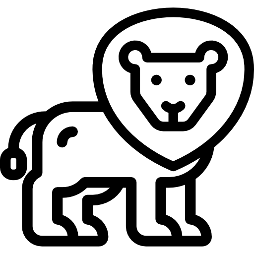 Lion statue outline png. Icon svg psd more