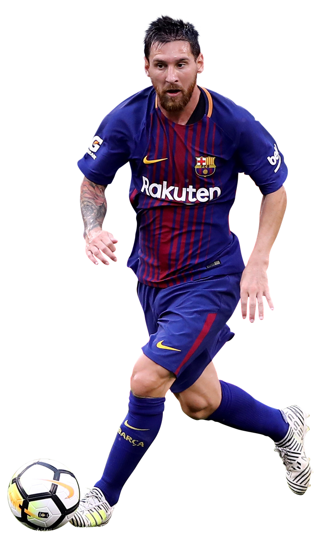 soccer player messi png