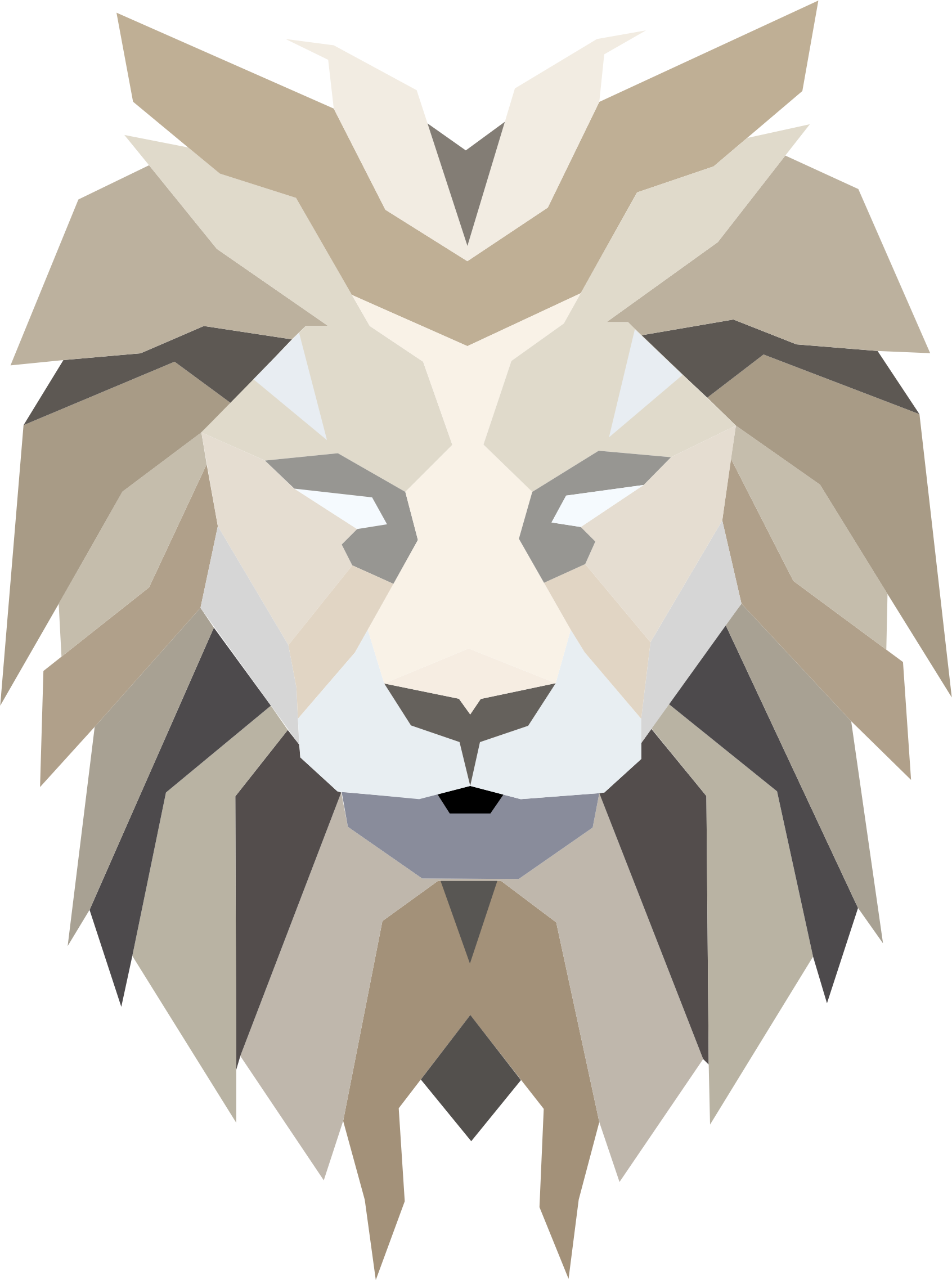 Abstract animal png. Lions clipart for free