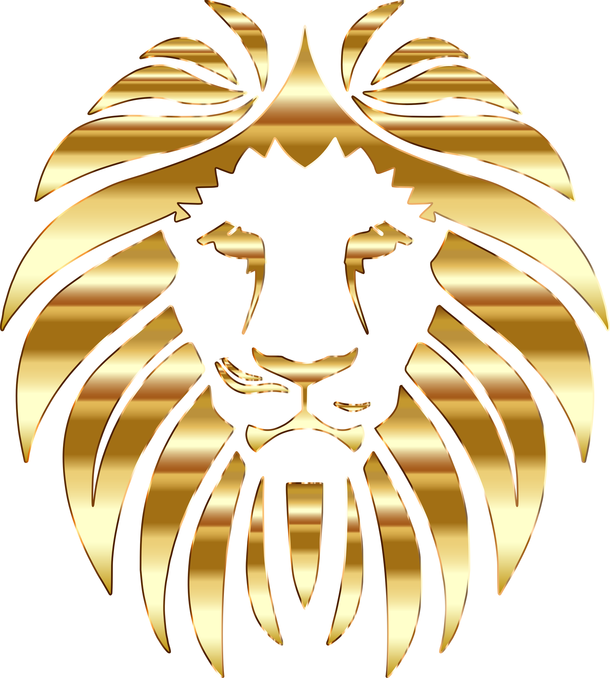 Lions vector golden lion. Clipart no background