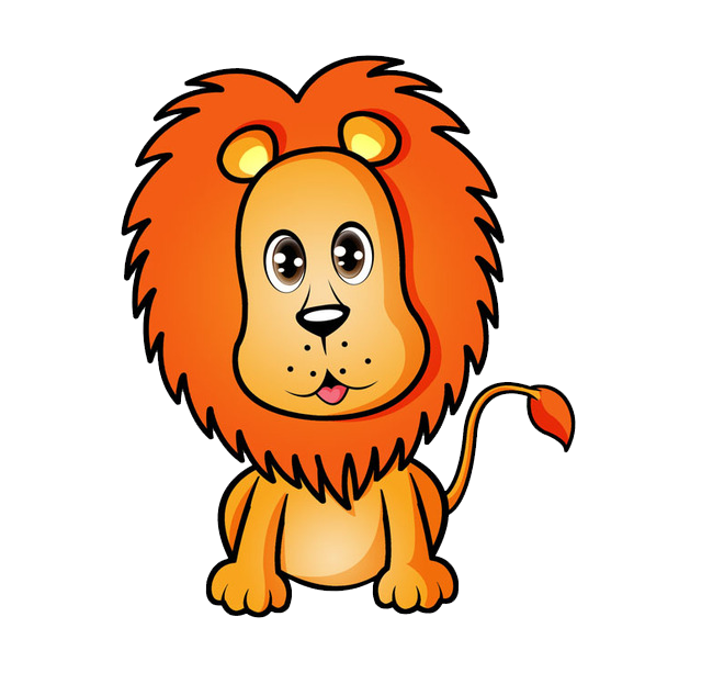 Lions vector lion tooth. Cartoon tiger transprent png
