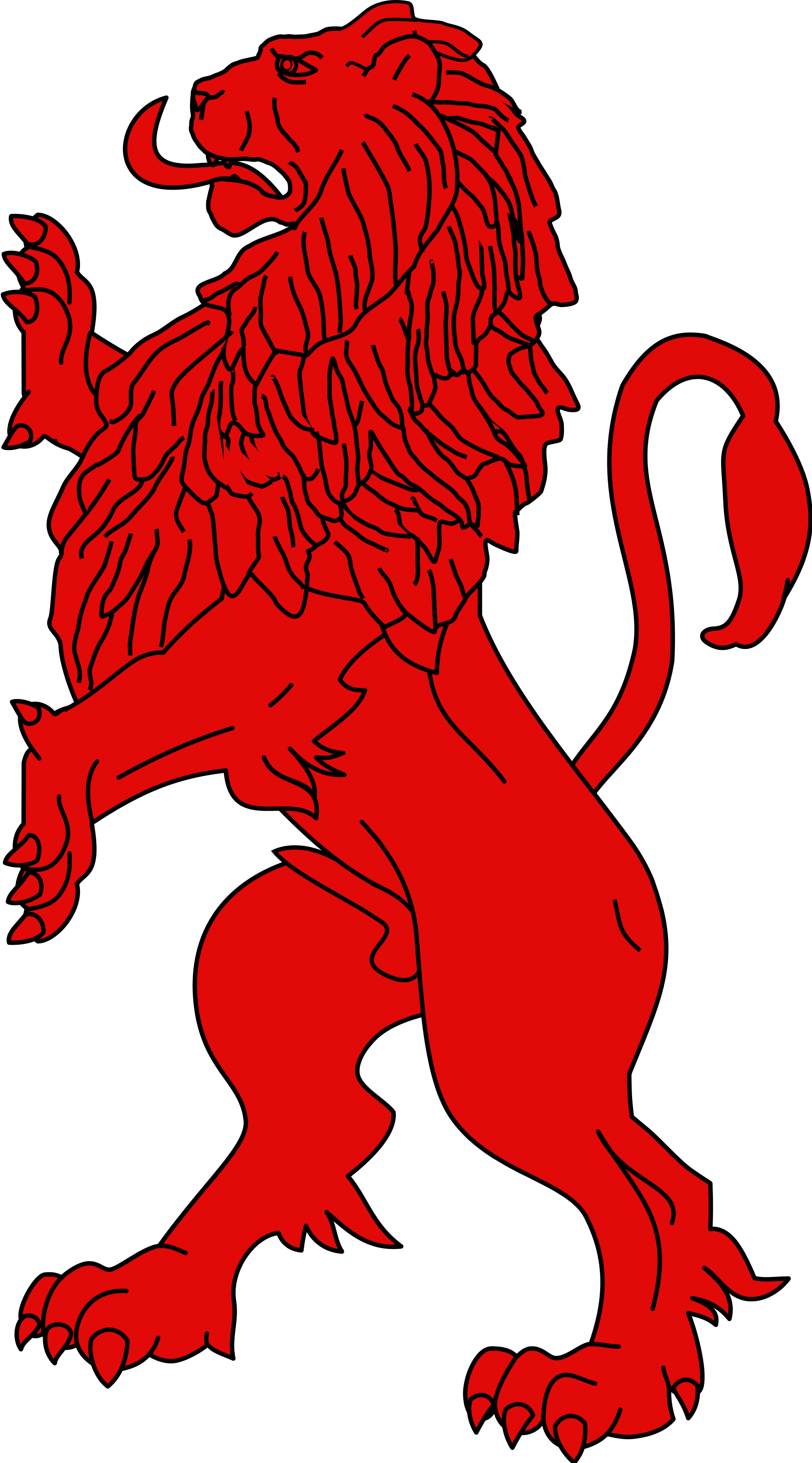 Lions vector red lion. File heraldic rampant gueules
