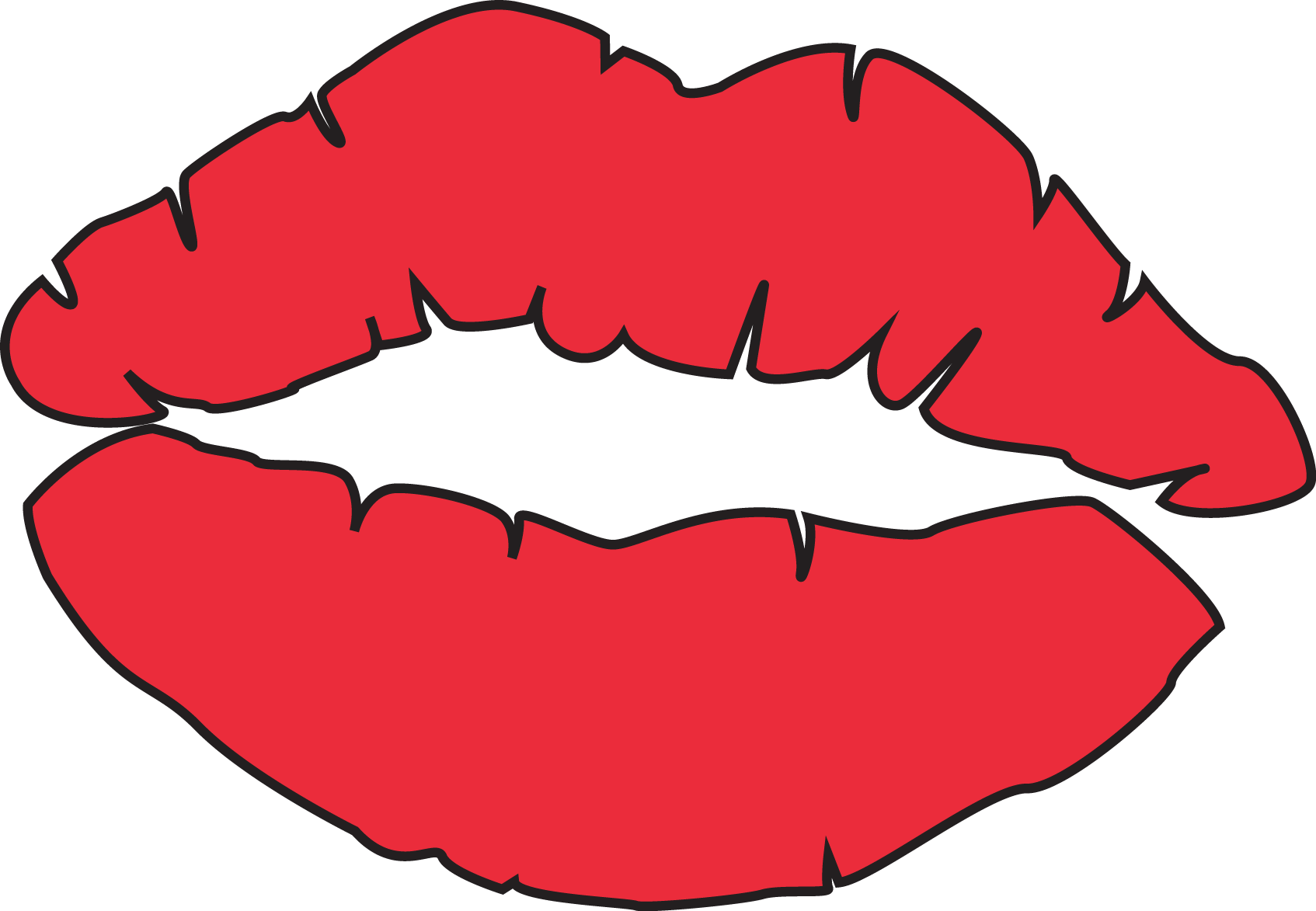 Lip clipart. Free kissing lips download