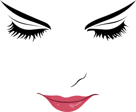 Silhouette at getdrawings com. Lip clipart eyelash image black and white library