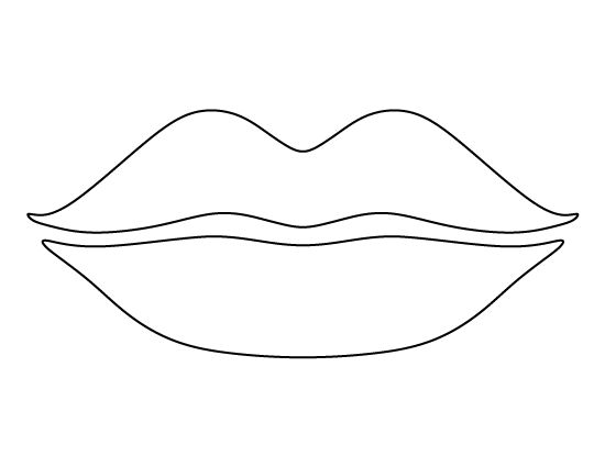 Lip clipart sketch. Lips pattern use the