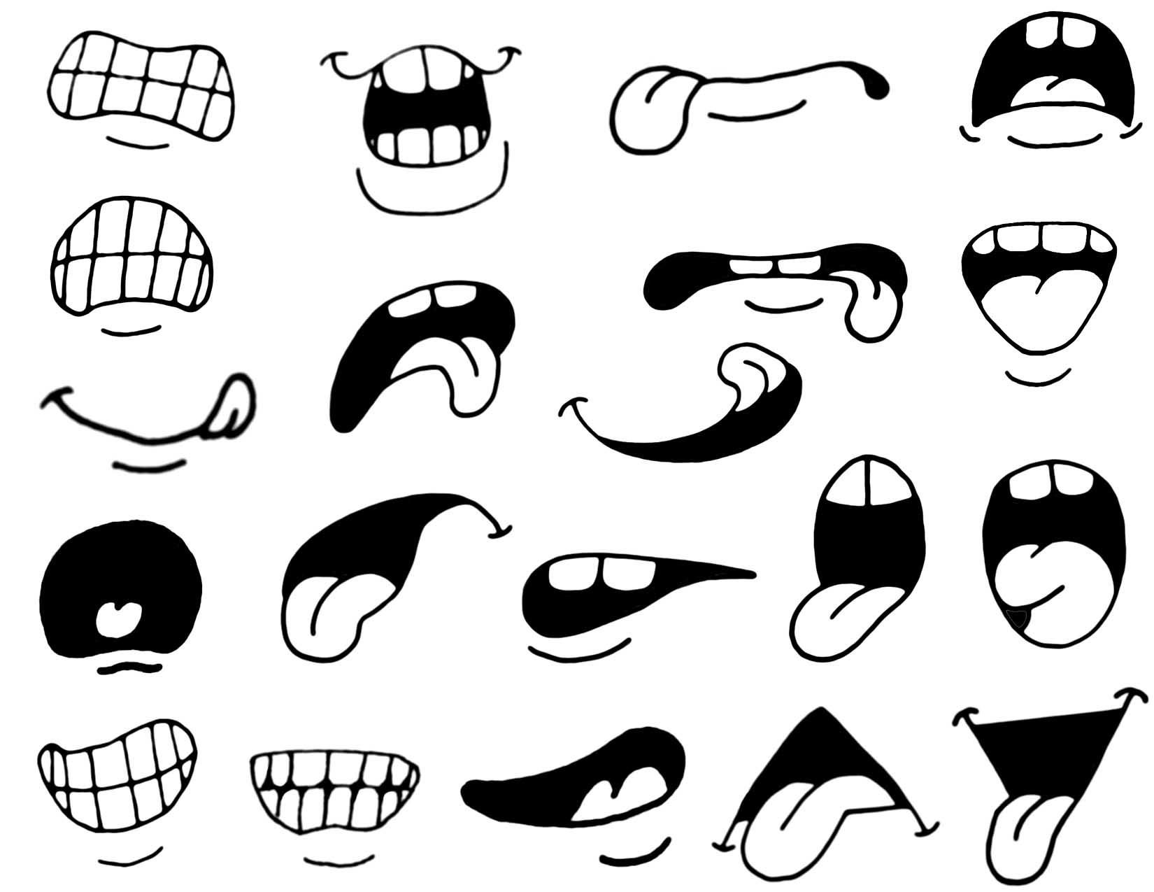 Lips clipart anamated. Intermediate mouths slightly more