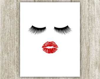 Lips clipart eyelash. Pencil and in color