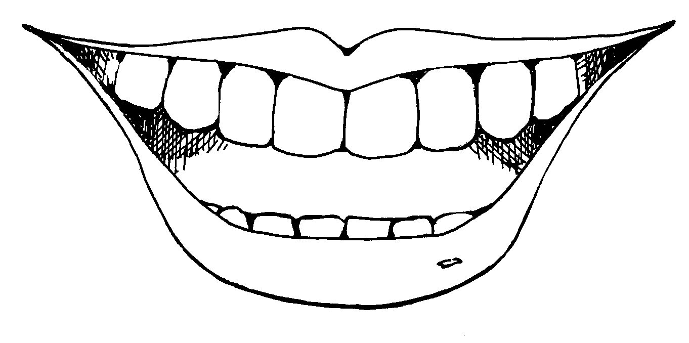 Mouth clipart smile line. Of typegoodies me black