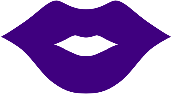 purple lips png