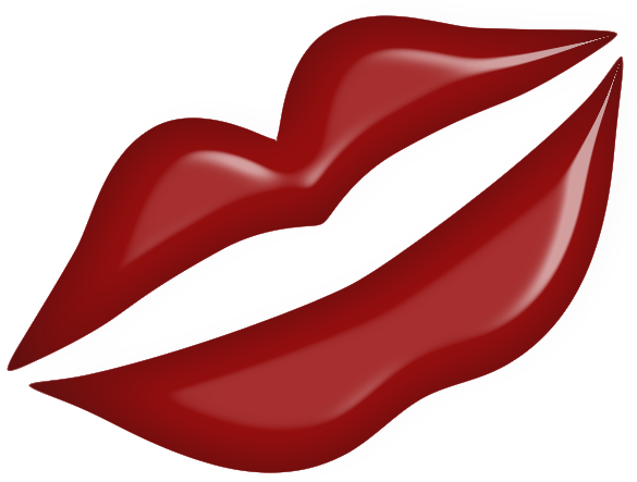 Lips clipart valentines. Red kiss png gallery