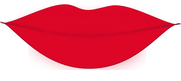 Lips clipart. Red small