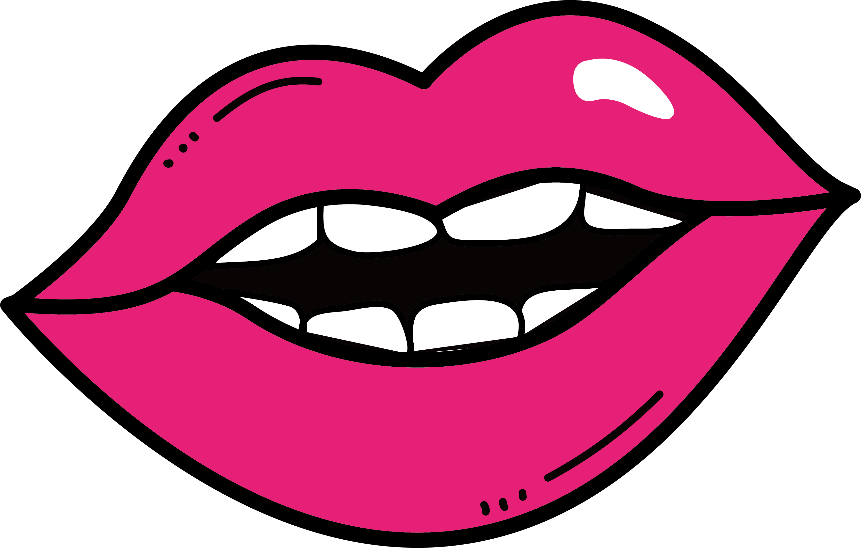 Clip art pink lips. Drawing smirk lip picture black and white download