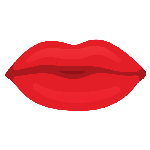 Lips .png. Mouth red icon s