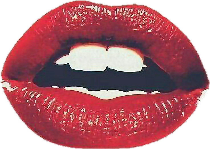 Lips png tumblr. Colorful red kiss sticker