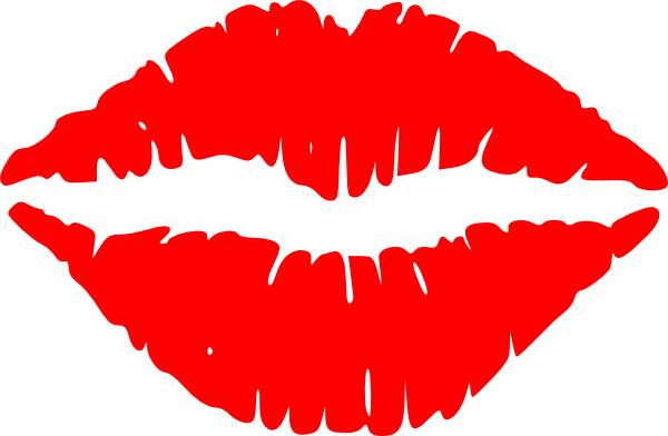 Lips silhouette png. Cartoon kissing clipart best