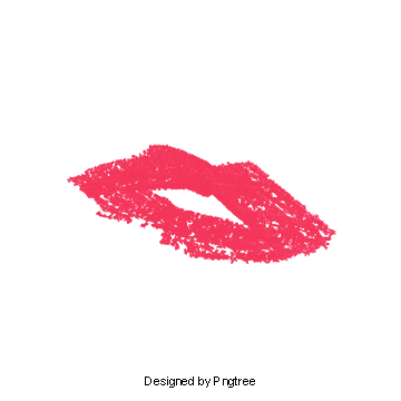 Water color lips png. Red lipstick vectors psd