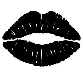 Kiss clipart black and white. Lips png transparent images