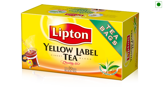 Lipton tea png. Buy yellow label bags